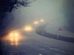 رانندگی ایمن در مه و گرد و غبار